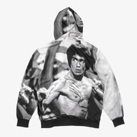 DGK x Bruce Lee Scratch Sublimated Hooded Sweatshirt