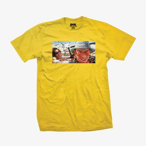 DGK Bat Country T-Shirt Yellow