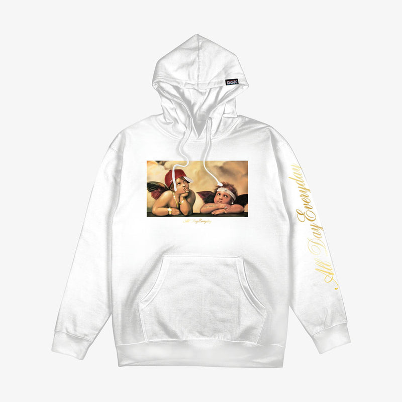 DGK Cherubs Hooded Fleece White