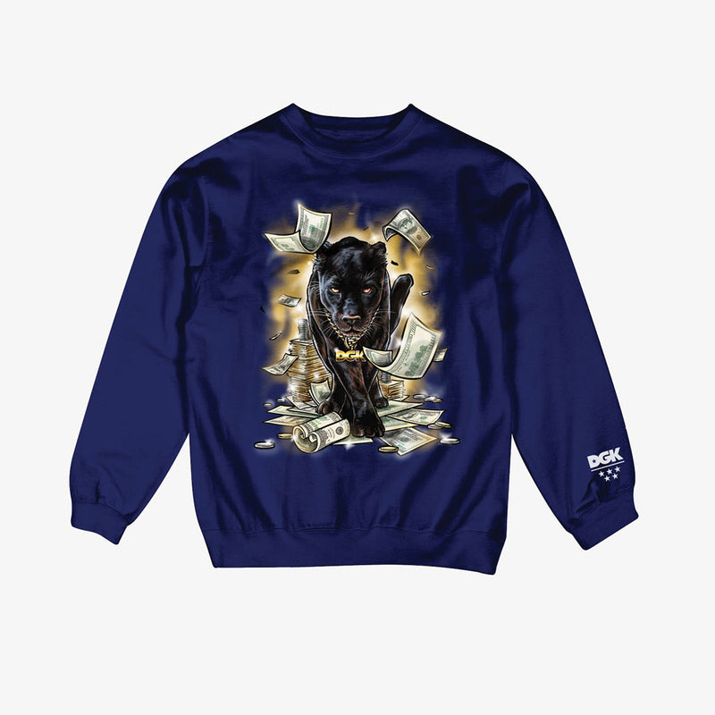 DGK Prowl Crew Fleece Navy