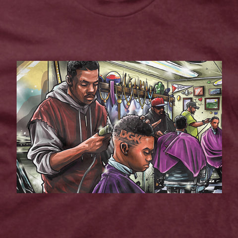 DGK Barbershop T-Shirt Burgundy
