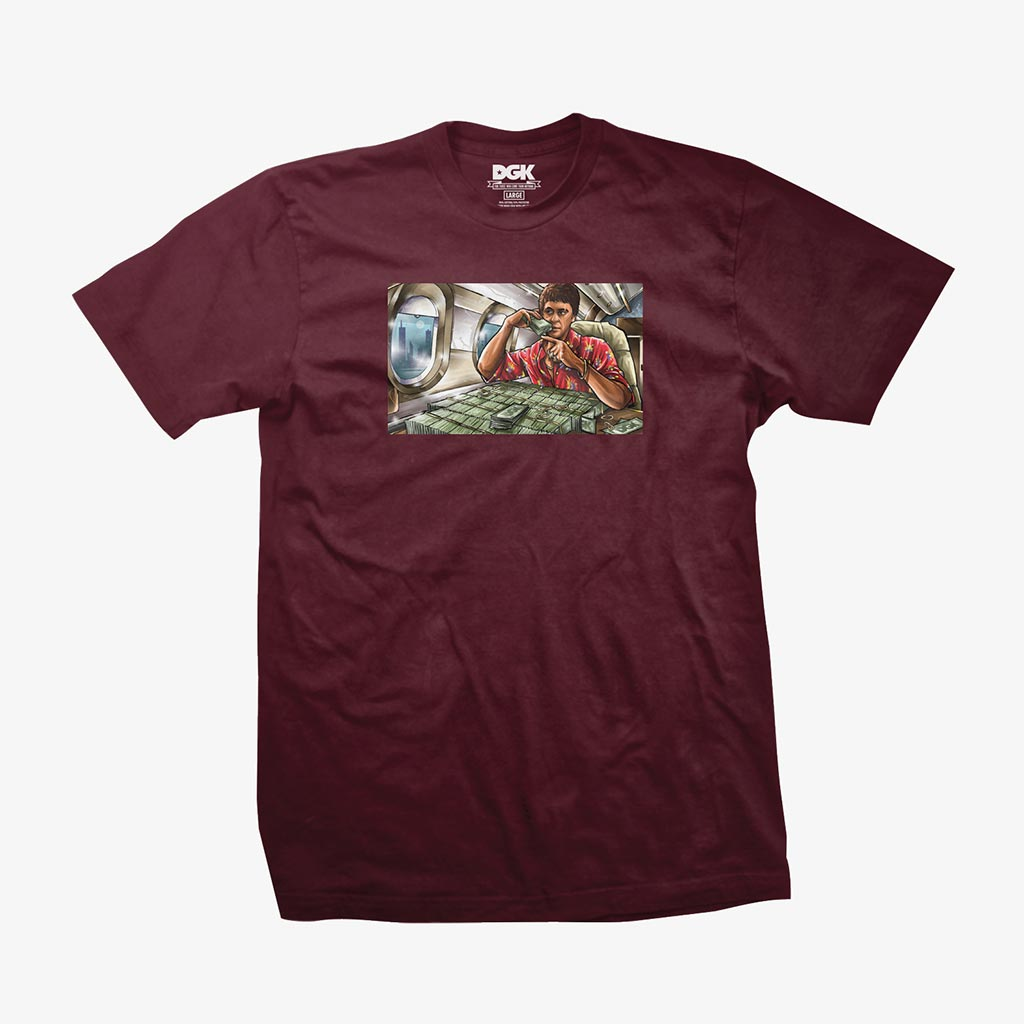 DGK Talkin' T-Shirt Burgundy