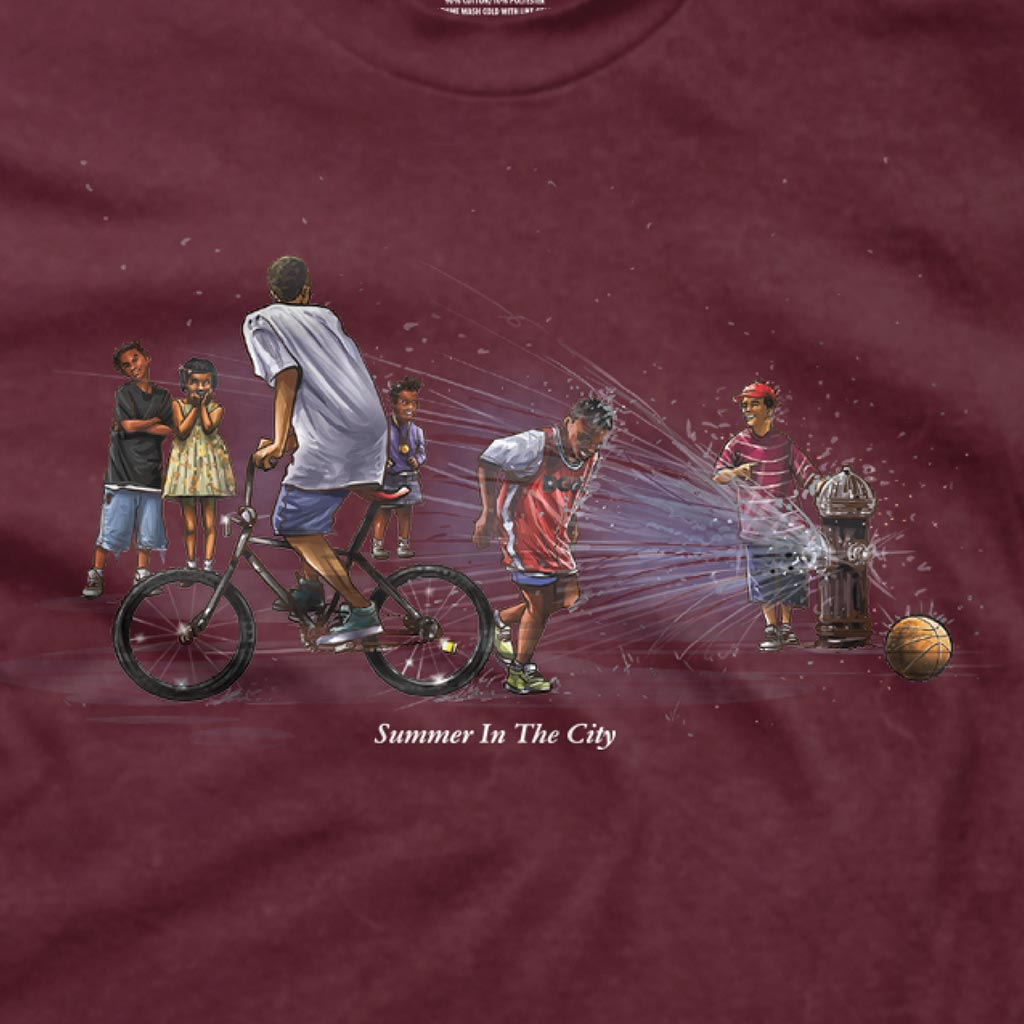 DGK Summer in the City T-Shirt Burgundy