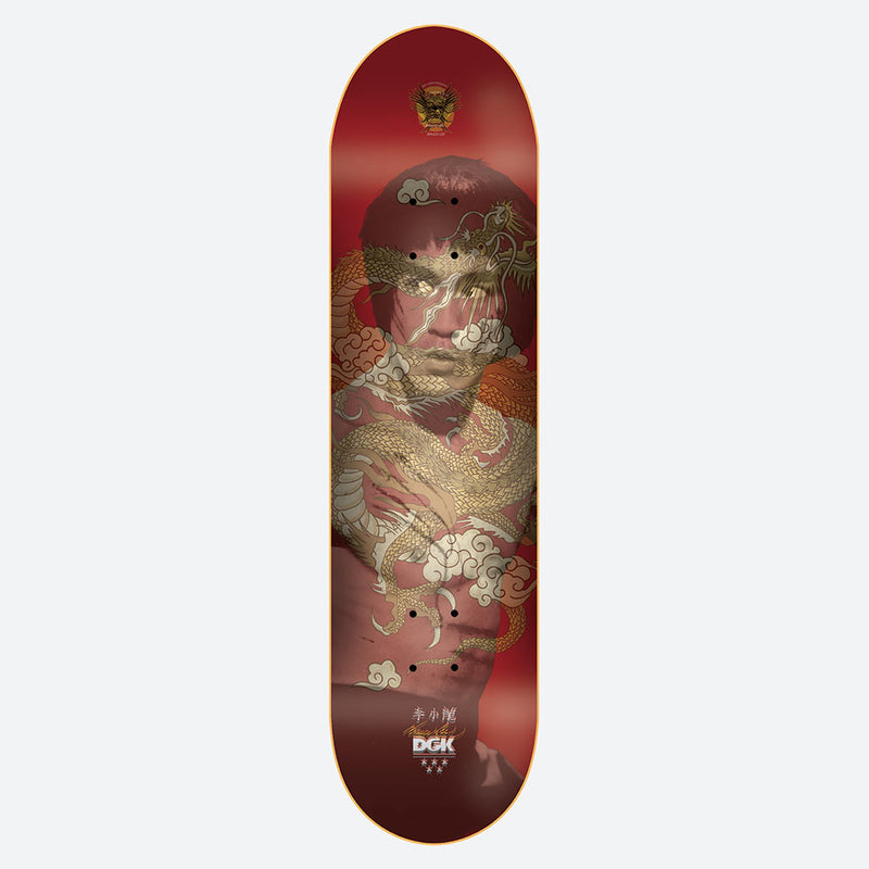 DGK x Bruce Lee Golden Dragon Red Lenticular Skateboard Deck