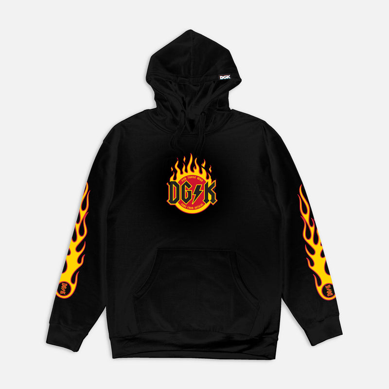DGK Flame Hooded Sweatshirt Black