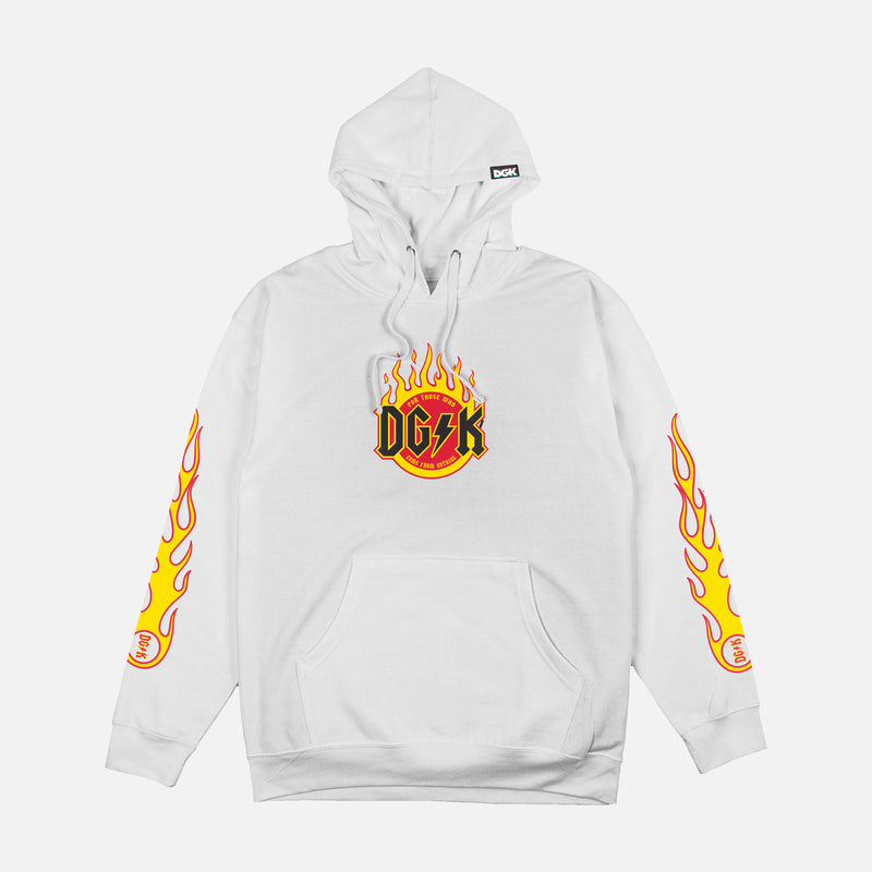 DGK Flame Hooded Sweatshirt White