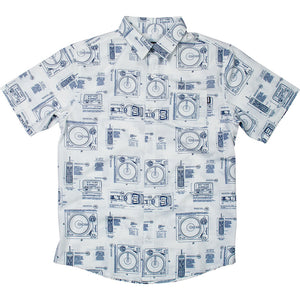 DGK Blueprint Woven Shirt White