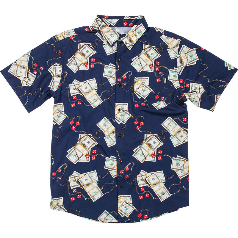 DGK Come Up Woven Shirt Navy