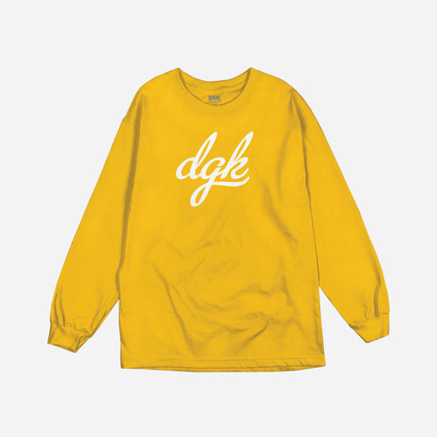 Script Long Sleeve T-Shirt