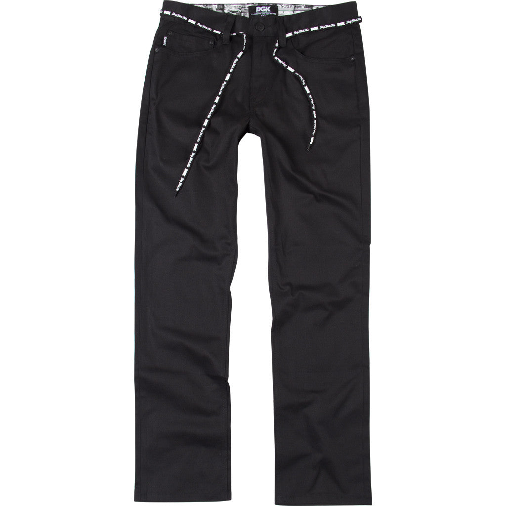 DGK Icon Stretch Chino Pant Black