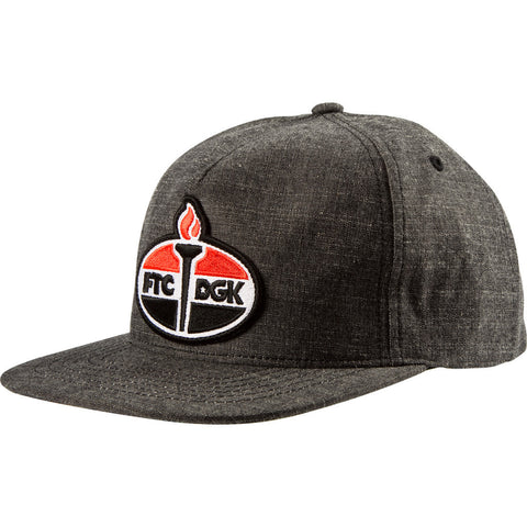 DGK FTC Torch Snapback Hat Black
