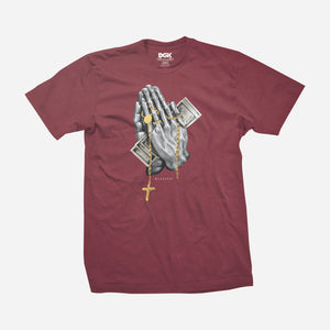 DGK Blessed T-Shirt Burgundy