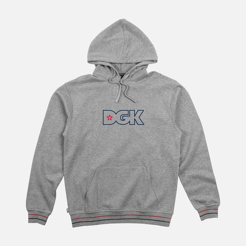 DGK Bristol Hooded Fleece Grey