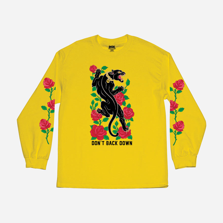 DGK Don't Back Down Shirt Yellow