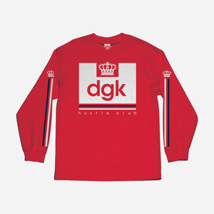 DGK Hustle Club Long Sleeve Shirt Red