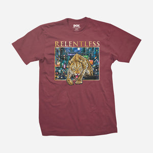 DGK Ally Cat T-Shirt Burgundy