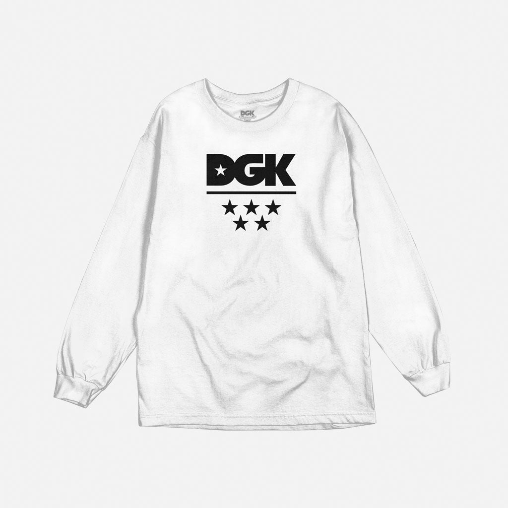DGK All Star Long Sleeve T-Shirt White