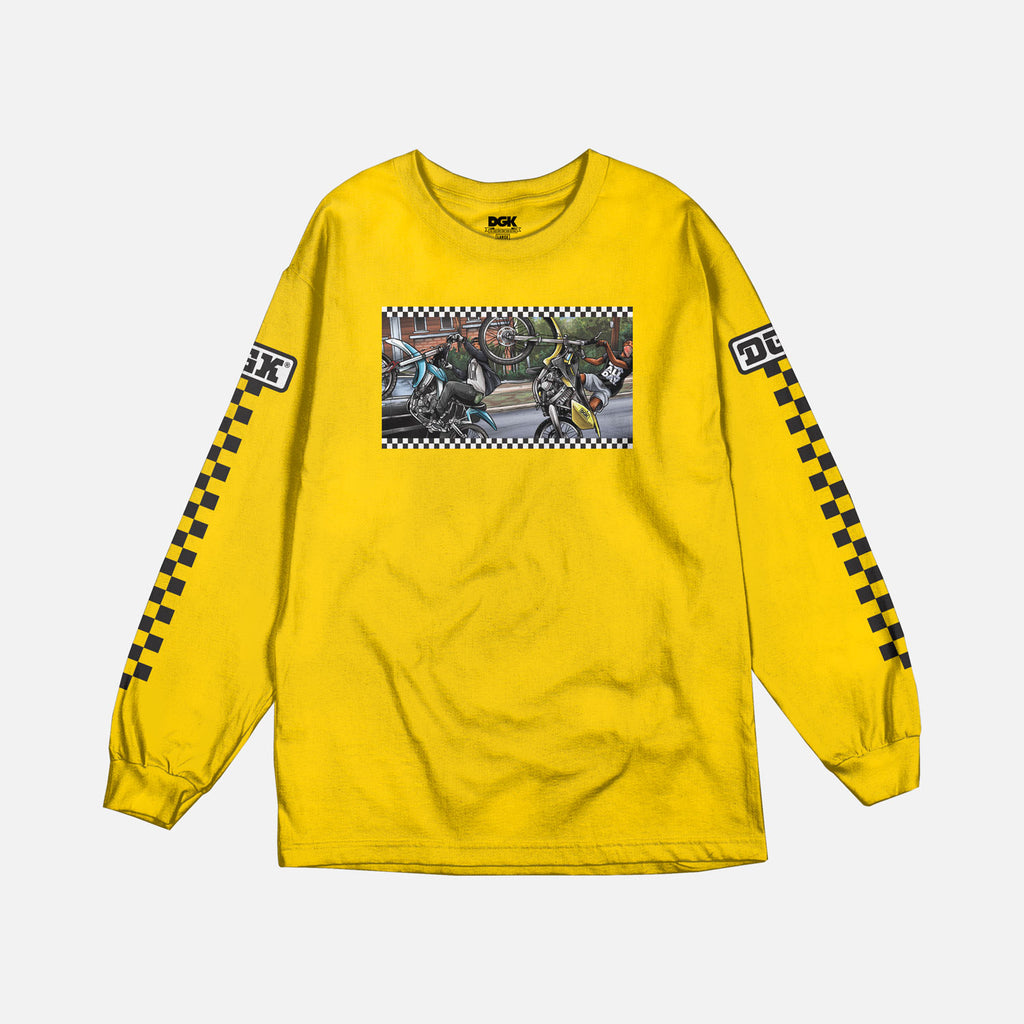 DGK Ride or Die Long Sleeve T-shirt Yellow