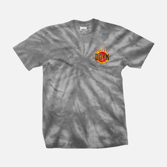 DGK Flame T-Shirt Spider Grey Tye Dye