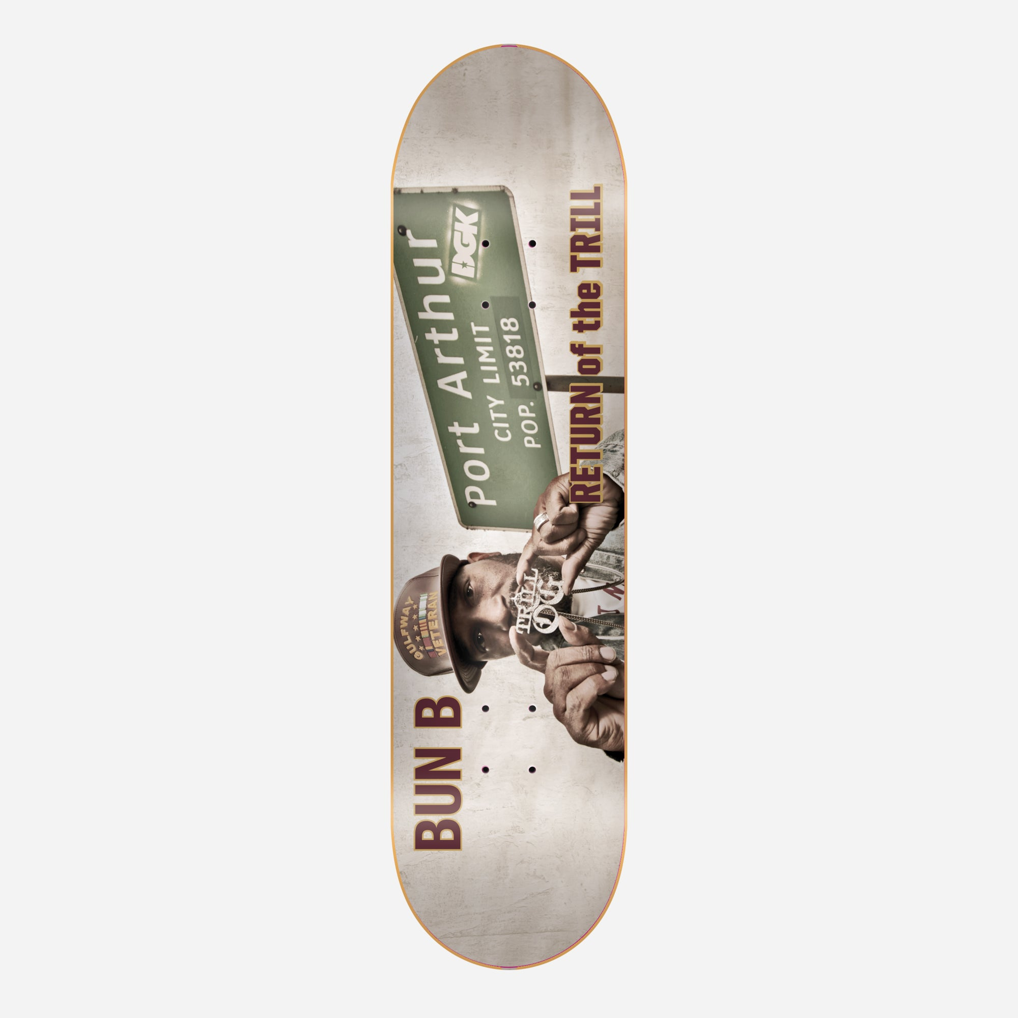 DGK Bun B x DGK Return of the Trill Skateboard Deck