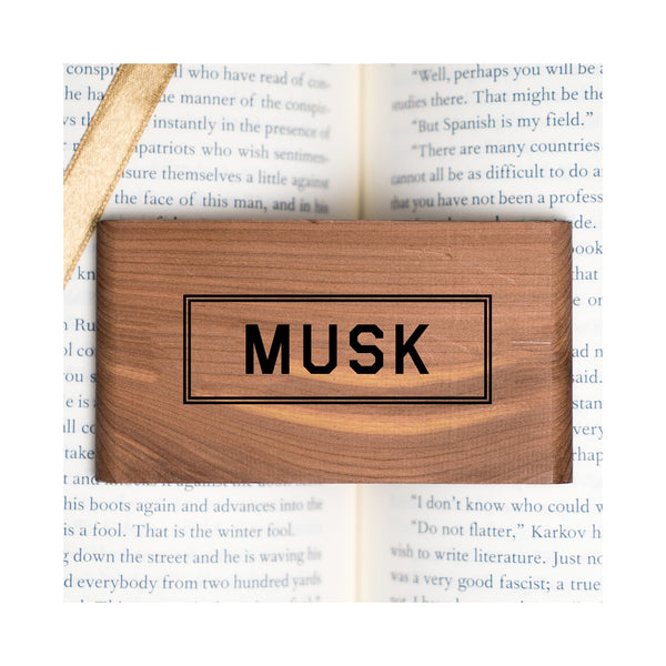 Musk Scented Wood Block - Gent Scents
