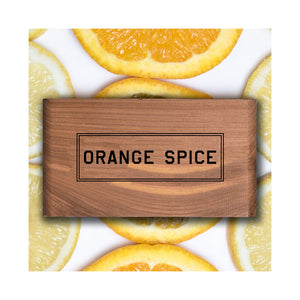 Orange Spice Scented Wood Block - Gent Scents