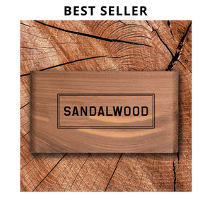 Sandalwood Scented Wood Block - Gent Scents