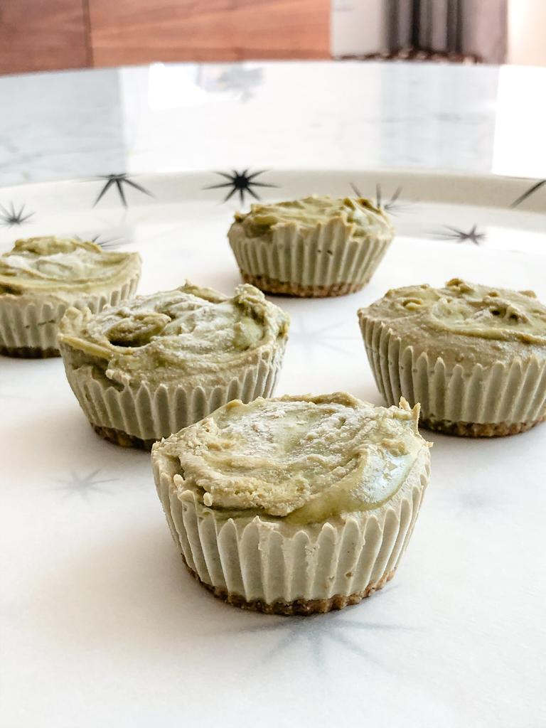 Mini Cheesecakes de Matcha