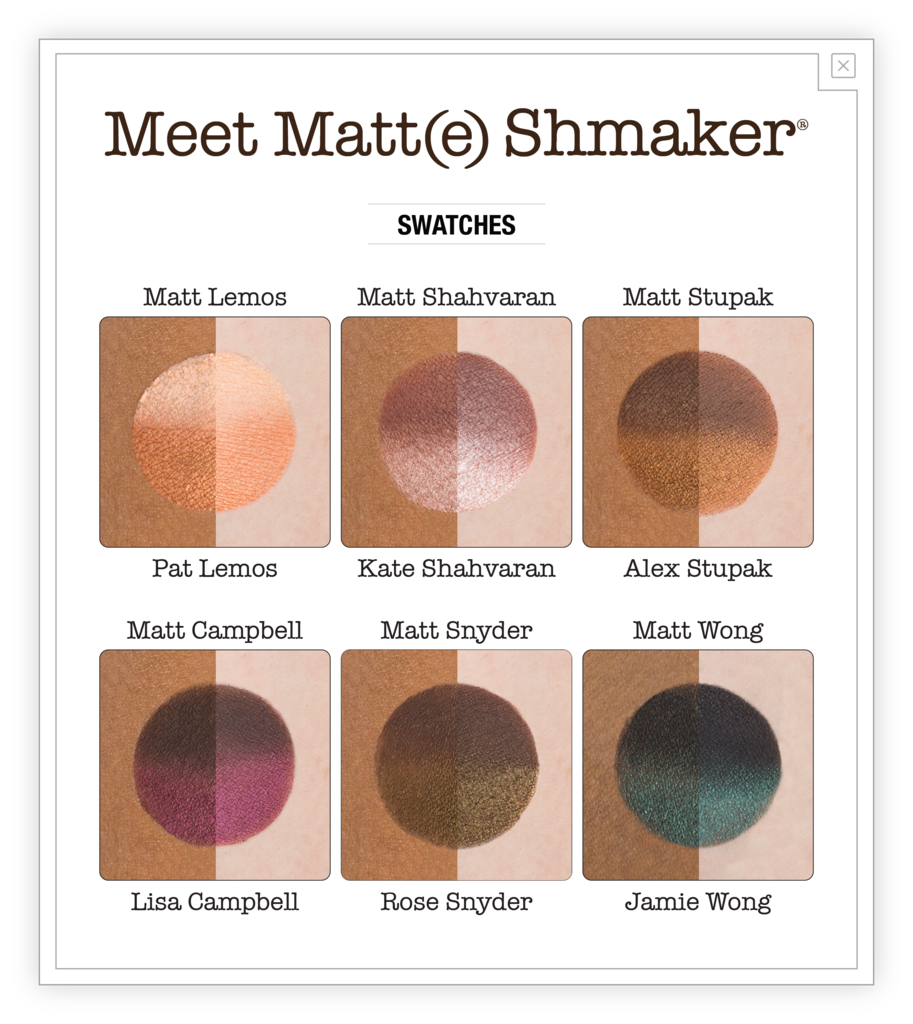 The Balm Cosmetics Meet Matt(e) Shmaker Palette