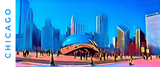 CHICAGO SKYLINE W/CLOUDGATE (Vibrant) - Mug