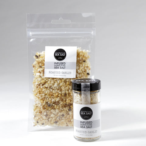 Roasted Garlic Infused Nordic Flake Sea Salt