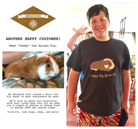 CUSTOM DESIGNED T-SHIRT (from a photograph of your pet)