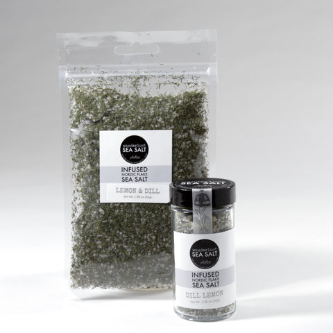 Dill & Lemon Infused Nordic Flake Sea Salt