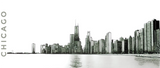 CHICAGO SKYLINE w/JOHN HANCOCK - View from North Beach (BW) - Heavy 15oz Mug made in the USA