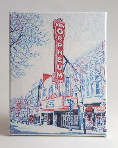"Orpheum Theater in Madison, Wisconsin - Handmade Canvas Art 8""x10"""
