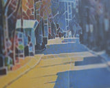 "State Street & Capitol in Madison, Wisconsin - Handmade Canvas Art 8""x10"""