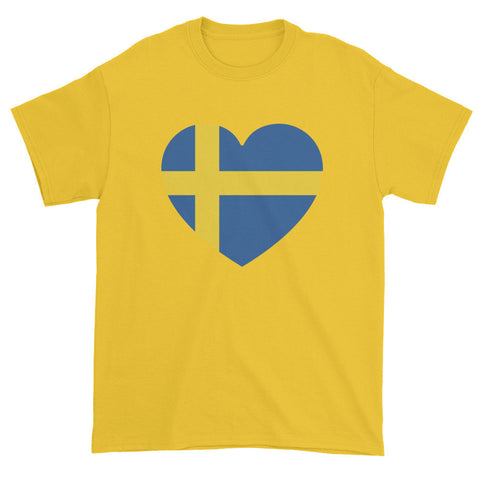 SWEDEN HEART - Mens/Unisex short sleeve t-shirt