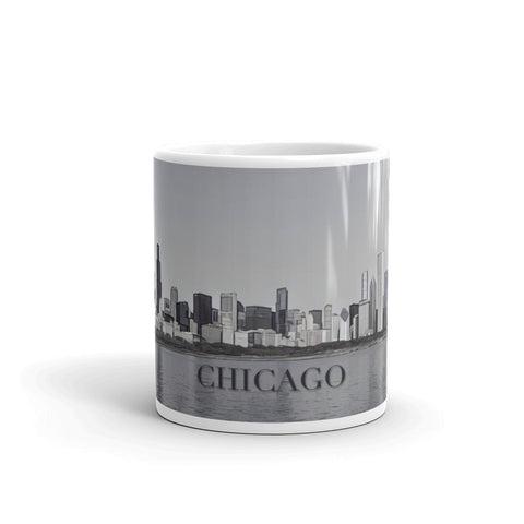 CHICAGO SKYLINE FROM LAKE MICHIGAN (Desaturated) - Mug
