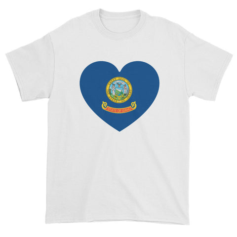 IDAHO FLAG HEART - Mens/Unisex short sleeve t-shirt