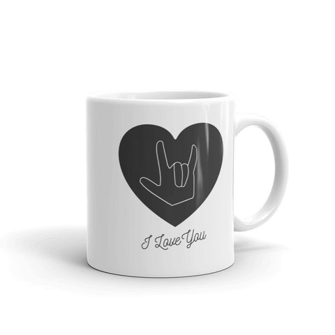 I LOVE YOU, SIGN LANGUAGE (BLACK) - Mug