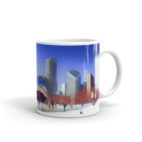 CHICAGO SKYLINE W/CLOUDGATE (SoftBlue) - Mug