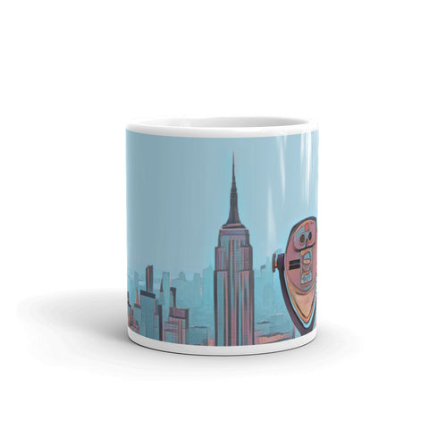 NEW YORK CITY SKYLINE W/VIEWFINDER (BlueSky) - Mug