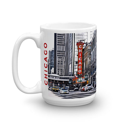 CHICAGO THEATER (Bold) - Heavy 15oz Mug made in the USA