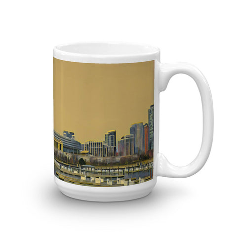 SOLDIER FIELD, CHICAGO (YellowSky) -Heavy 15oz Mug made in the USA