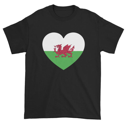 WALES HEART - Mens/Unisex short sleeve t-shirt