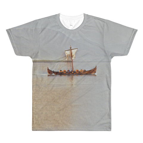 VIKING SHIP VINTAGE (NORWAY) Sublimation men's crewneck t-shirt