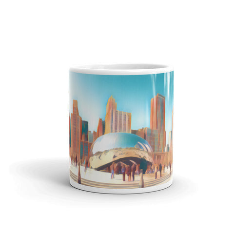 CHICAGO SKYLINE W/CLOUDGATE (Rust) - Mug
