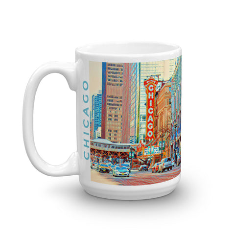 CHICAGO THEATER (Colorful) - Heavy 15oz Mug made in the USA