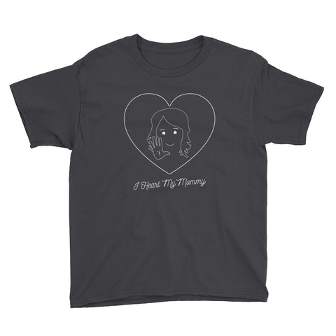 I HEART MY MOMMY, SIGN LANGUAGE - Youth Boy Short sleeve t-shirt