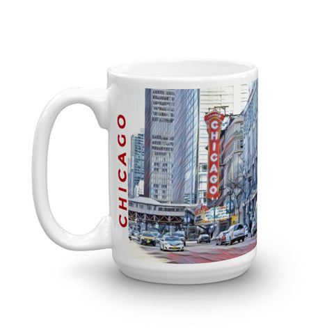 CHICAGO THEATER (Subtle) - Heavy 15oz Mug made in the USA